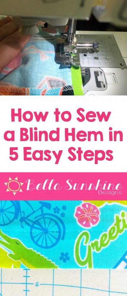 How to Sew A Blind Hem in 5 Easy Step - Must Repin for Later!