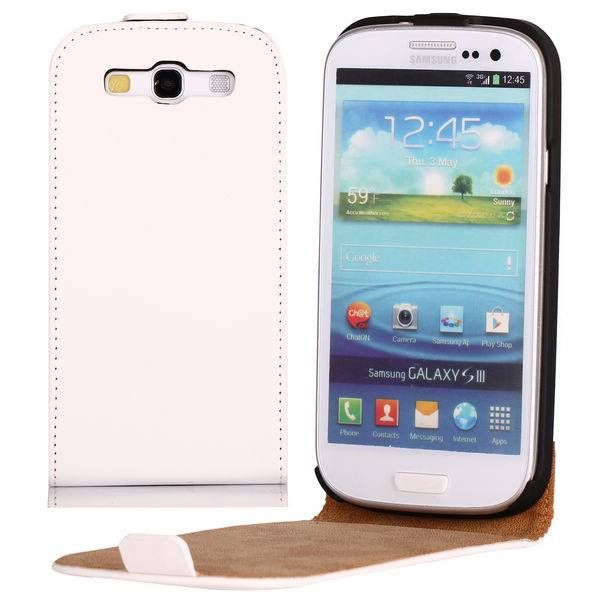 Wit Flip Cover Telefoonhoesje voor Samsung Galaxy S3