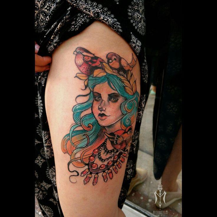 #traditionaltattoos #tattoos #colors #women #milamantilla #artpiece