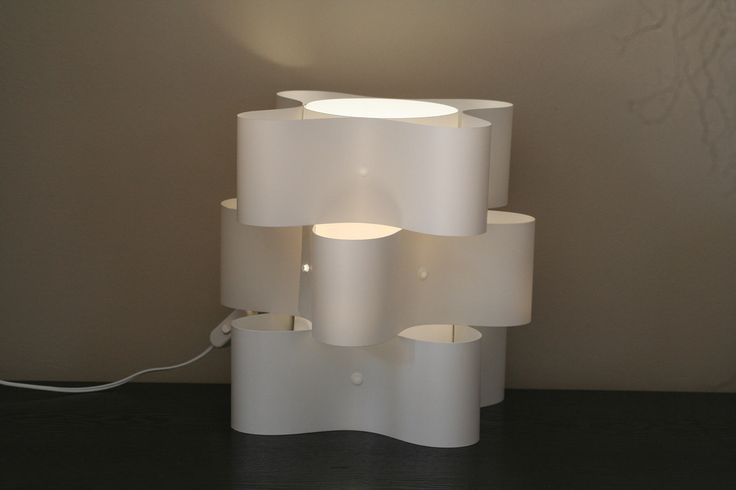3 tier white table lamp
