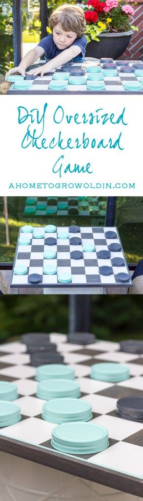 Easy instructions for an oversized checkerboard game that is perfect for some outdoor fun and entertainment this summer! Both kids and adults will love it! Save it for later so you don't forget it!