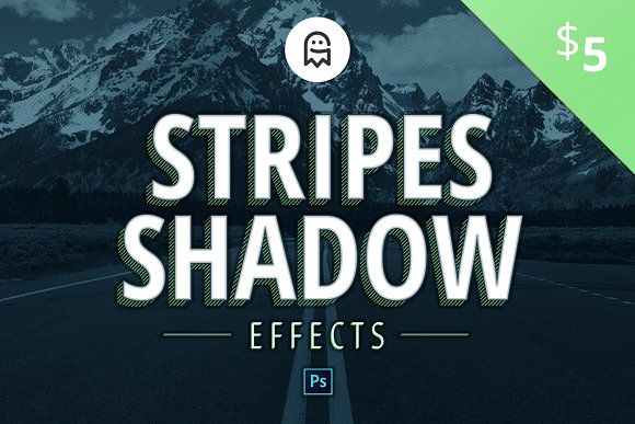 Stripes Shadow Effects by Graphic Ghost on @creativemarket #addon #stripesshadow #stripes #shadow #texteffect #effect #objects #text #filter #template #photoshop #creativemarket #graphicghost