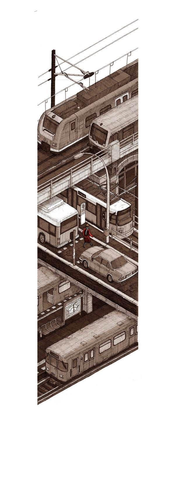 Bahn by Evan Wakelin, via Behance