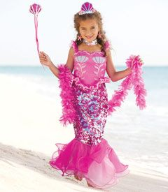 pink fairytale mermaid girls costume - Only at Chasing Fireflies - Transform into a spectacular mermaid with this fairy-tale costume.: