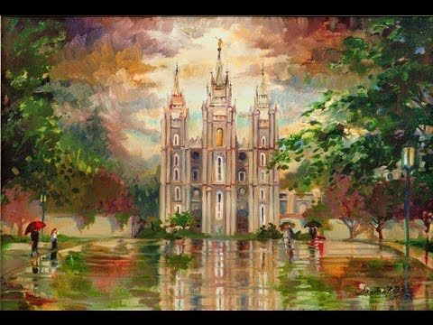 The salt lake temple is my favorite so pretty his holy house framed canvas framed art by sandra rast
