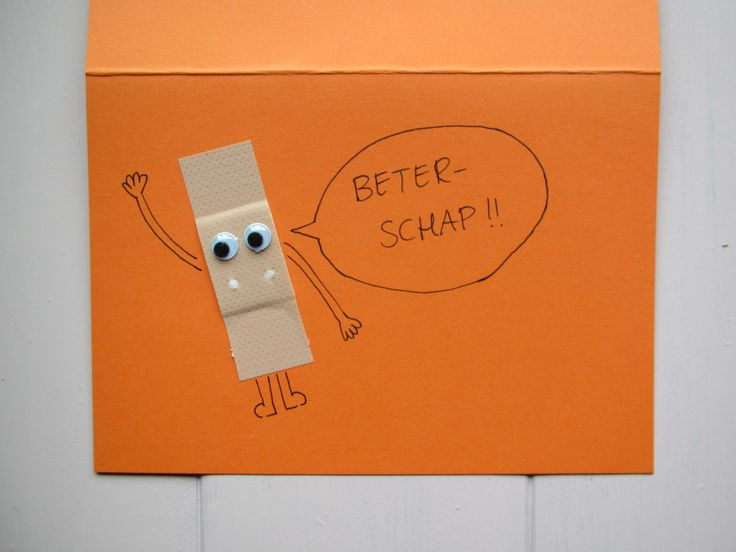 Good well soon card. / Beterschapskaart maken (een tutorial). Postcrossing. // VAN BRITT