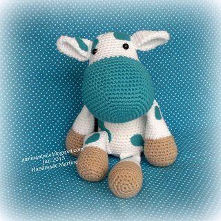 #haken, gratis patroon, amigurumi, koe, ravelry, #crochet, free pattern, cow