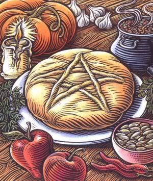 A Simple Thanks~    Lord and Lady, watch over us,  and bless us as we eat.  Bless this food, this bounty of earth,  we thank you, so mote it be.