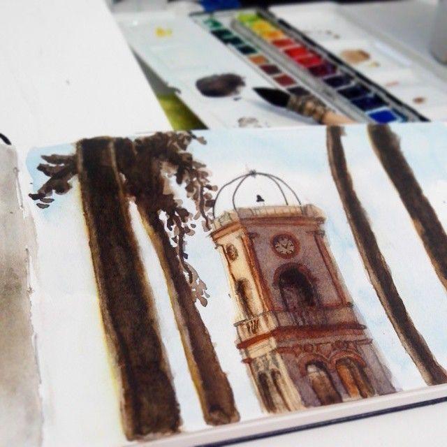Fabrica São Martinho - Tatuí, SP. Aquarela #aquarela #watercolor #tatui