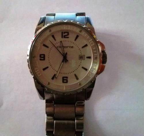 reloj liz claiborne elegantisimo acero inoxidable, brasalete y caja silver $60 fijos inf 75710825 whatsaap