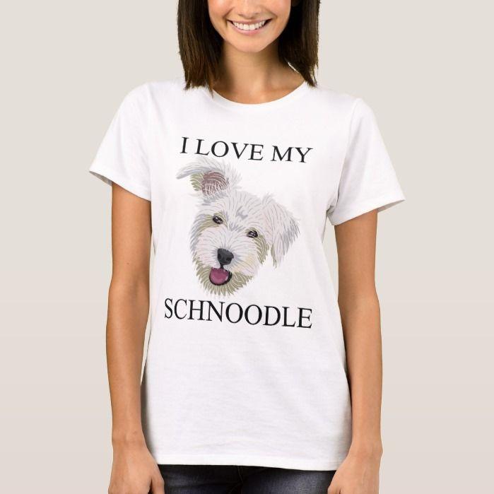 Seewhite Schnoodle Tshirt Design Pet My Schnoodle T Shirt