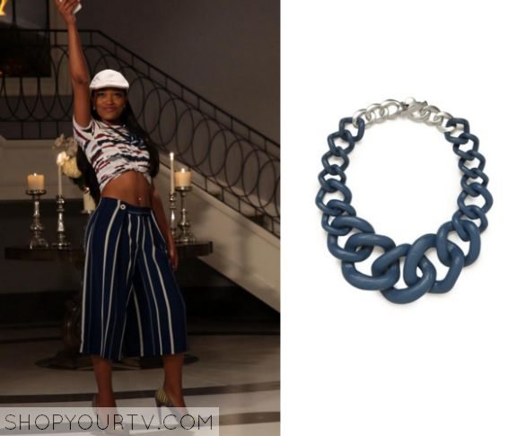 Scream Queens: Season 1 Episode 6 Zayday's Silver/Blue Necklace