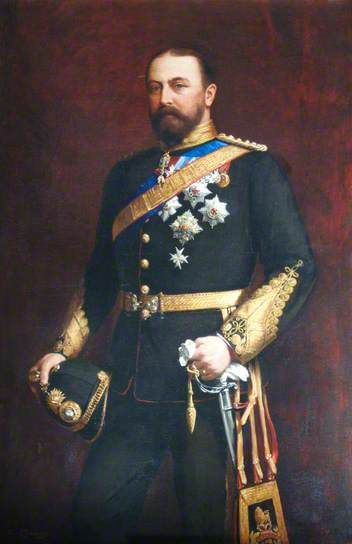 His Royal Highness Alfred Ernest Albert (1844–1900), Duke of Saxe-Coburg and Gotha, Duke of Edinburgh (1874–1899), KG, GCB, Admiral of the Fleet (1893), Honorary Colonel of the Royal Marines (1883), by Arthur Leopold Bambridge ~ ca1890, Royal Marines Museum