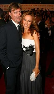 Lisa McCune and husband Tim on the red carpet at the 2007 TV Week Logies.