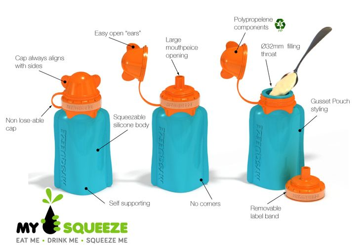 My Squeeze the eco friendly reusable food pouch