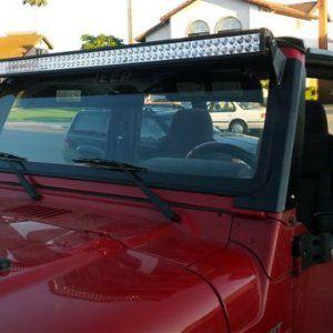 "ModifyStreet 50"" LED Jeep TJ Wrangler Light Bar Windshield Mounting Brackets for Jeep Wrangler TJ"