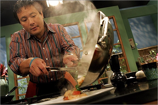 Ming Tsai is  known outside of Boston for his PBS cooking show 'Simply Ming' and line of cookware at Target. But locally, he's known for operating Wellesley's Blue Ginger.