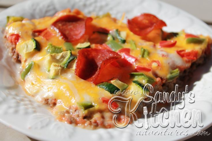 Medifast Sandy 39 S Kitchen No Dough Meat Crust Pizza Lean And Green Recipes Pinterest