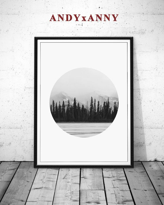 Forest black white photography forest circle photo black and white prints black and white wall art nature photography mountain print