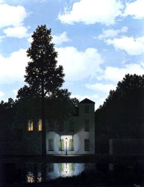 ベルギー王立美術館所蔵 ルネ・マグリット「光の帝国」(1954年)