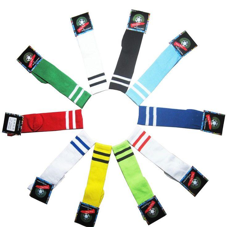 11 цвет 2016 новый детский футбол носки 2016 Высокое качество 100% хлопка детей лонг футбольные гетры мальчиков дышащая спортивные носки