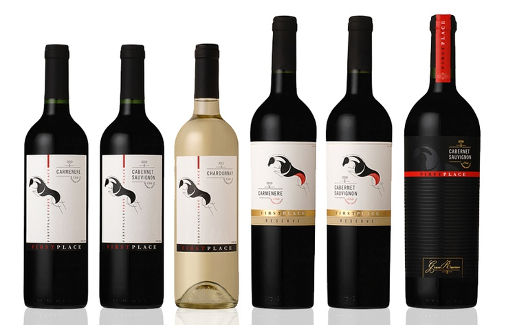 """FIRST PLACE WINE Proyecto: Diseño de Etiquetas de Vino / Cliente: Ranco Wines / Año: 2012 / Se desarrolló una nueva marca de Vino Chileno para el mercado Chino, llamada First Place. El nombre se debe al """"Huaso"""", caballo chileno conocido por su record mundial en salto. Desarrollamos la marca, etiquetas y contraetiquetas de vinos Varietal, Reserva y Gran Reserva en distintas variedades como Cabernet Sauvignon, Carmenere y Chardonnay."""