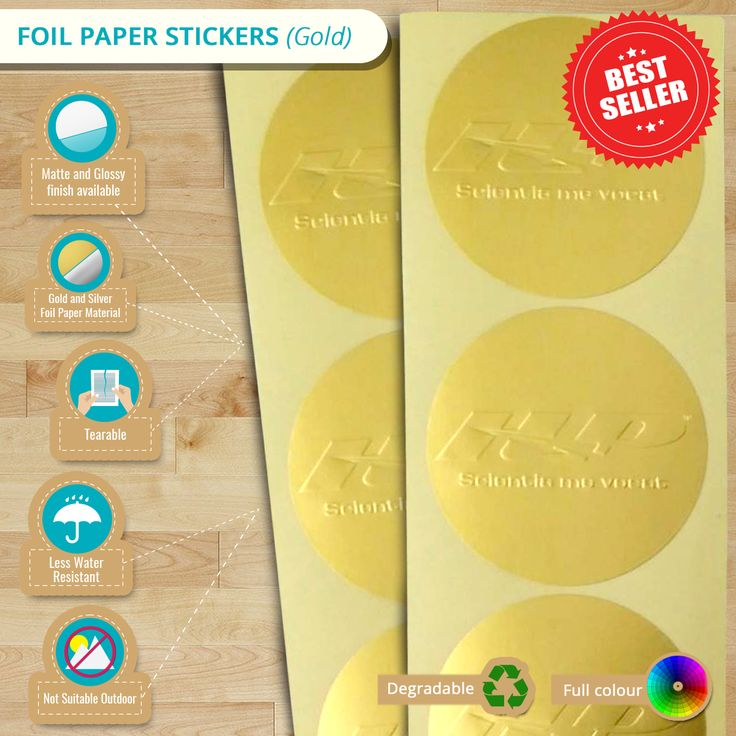 Catch everyone's attention with your exquisite design on Foil Paper Stickers. This is also recommended for retails shops, gift wrapping or on a wedding. Check more details for Foil Paper Stickers with this infographic!