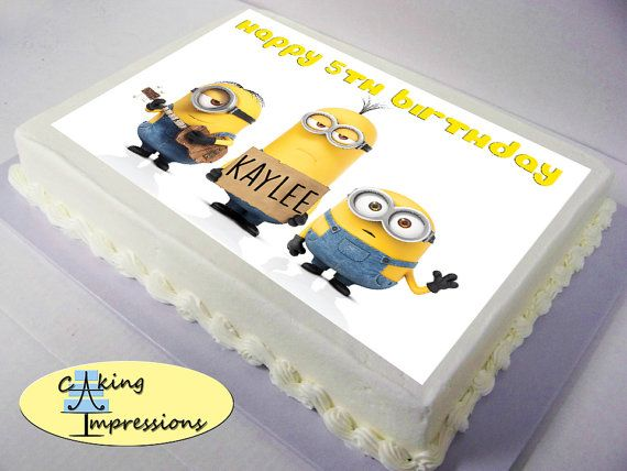 9 best minion cake images on Pinterest Minion cakes Anniversary