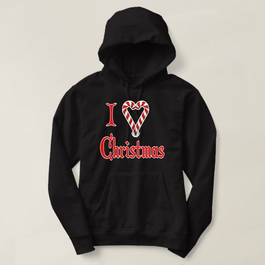 I Love Christmas Custom Hoodies