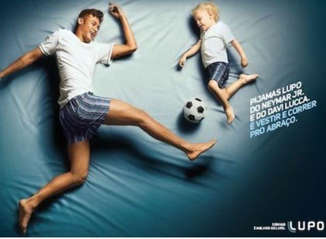 No hemos visto mucho a neymar en el fútbol, pero si en campañas publicitarias, esta vez junto a su hijo una divertida campaña para la marca de pijamas lupo. #marcas #neymar #futbol #actualidad #SoyRedactora