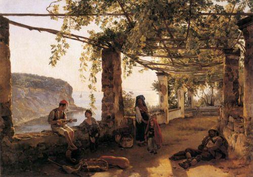 Terrace at Sorrento, 1826, by Sylvester Shchedrin