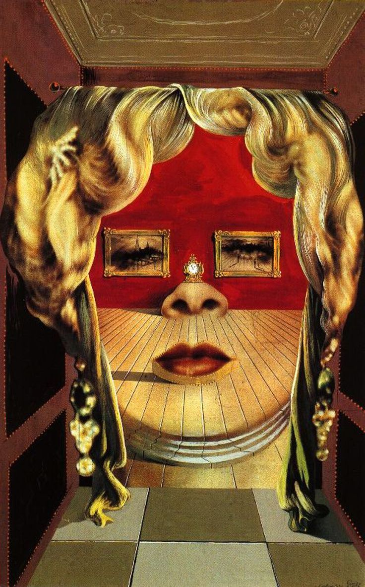 """""""Face of May West Which May Be Used as an Apartment"""" (1935) by Salvador Dalí (1904-1989)"""