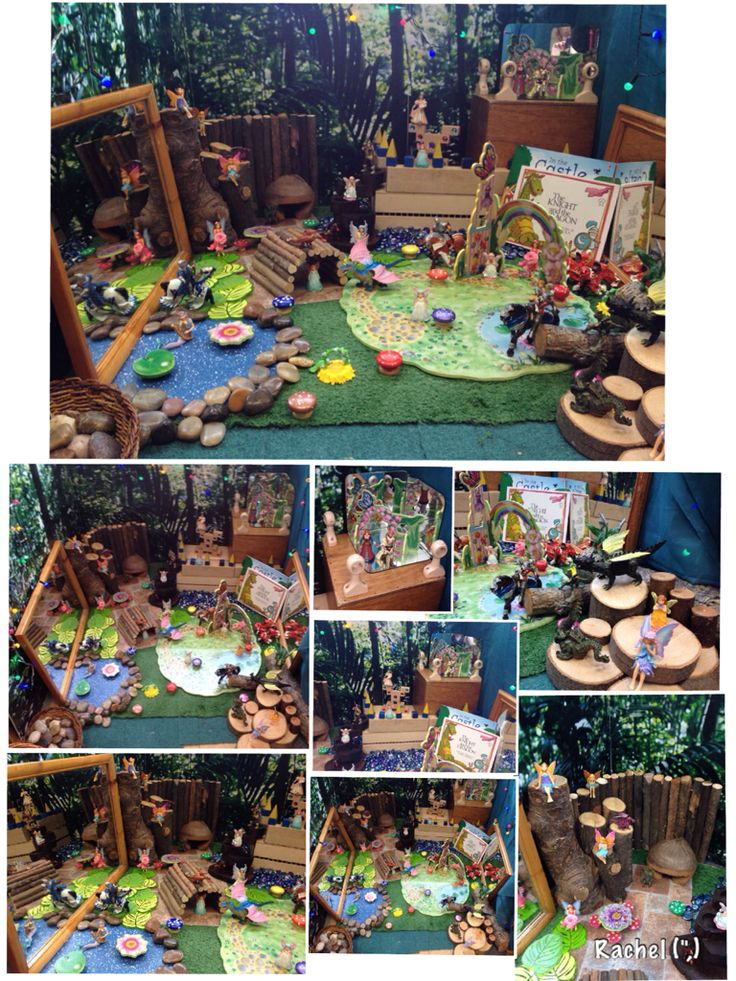 """Fairies in the Castle - from Rachel ("""",)  Also lots of other learning area set up ideas."""
