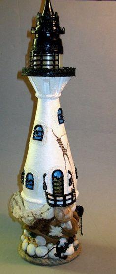 Декоративная бутылка. Декор окон и балкона