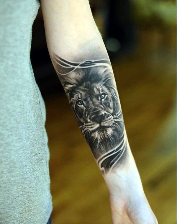dec34a8f1 46 Cool Forearm Tattoos Designs and Ideas to try | cover up ideas | Lion  tattoo, Lion tattoo design, Lion forearm tattoos