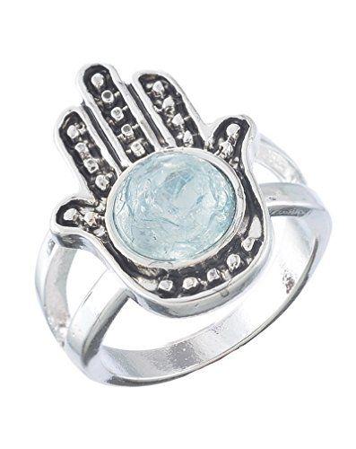 MJartoria Antique Silver Color Hamsa Hand Ring Size of 6.5 MJartoria http://www.amazon.com/dp/B00XMCXV6I/ref=cm_sw_r_pi_dp_oevvvb0447SNA