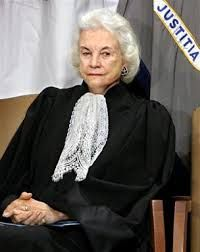 Associate Justice SANDRA DAY O'CONNOR = The FIRST women appointed to the U.S. Supreme Court --- Elected to 2 terms in the Arizona state senate; nominated by Ronald Reagan with unanimous Senate approval; administered the oath of office to Gonzales, at the Justice Department in Washington, 02/14/2005; retired in 2006 after serving for 24 years; born in El Paso, Texas ~ PHOTO from cbsnews.com _____________________________ Reposted by Dr. Veronica Lee, DNP (Depew/Buffalo, NY, US)