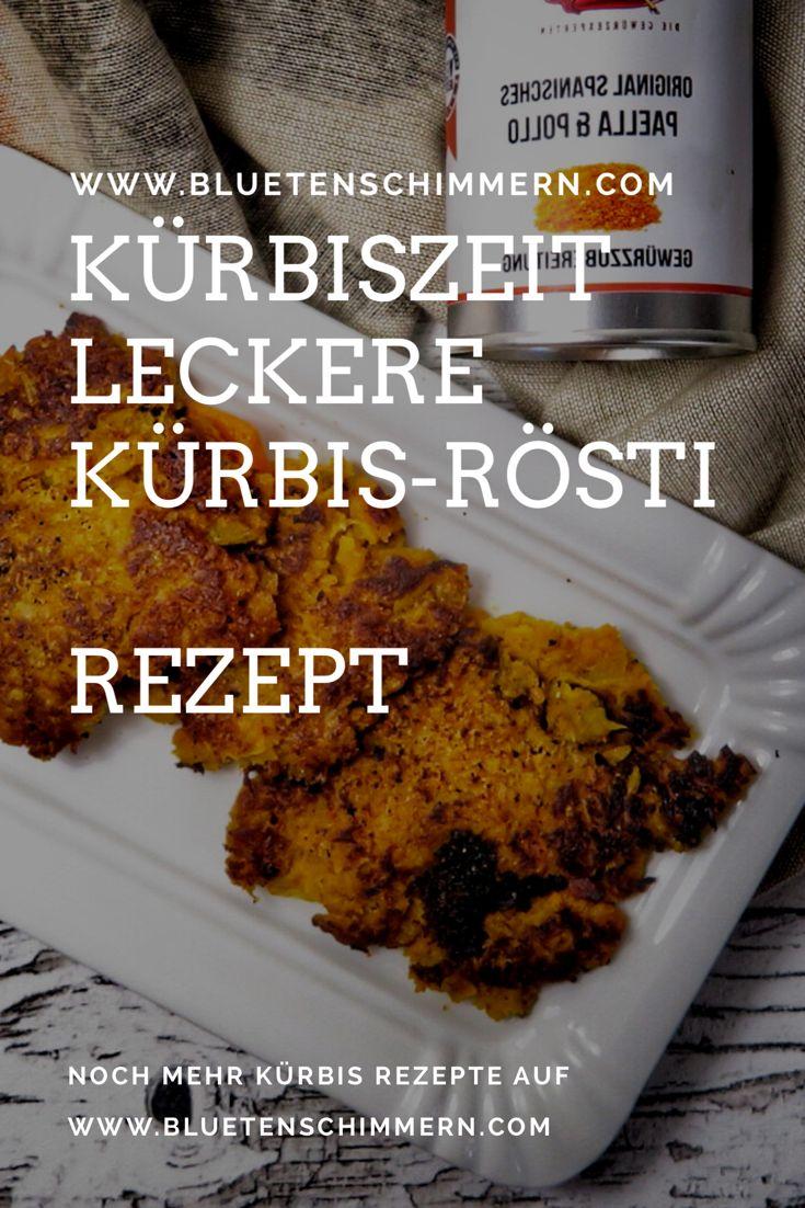 Leckere Kürbis Rösti - schmecken herrlich, sind vegetarisch und schnell zuzubereiten. Die Kürbis Rösti schmecken sehr gut zu Salat oder lassen sich süß mit Apfelmus verspeisen.