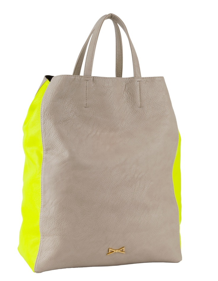 NEON COLOR TWO TONE SHOPPING BAG