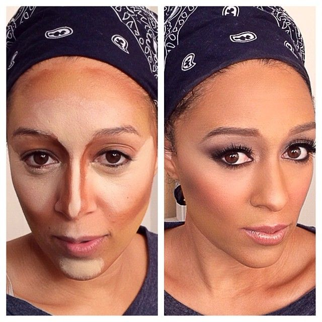 Tia Mowry after contouring ...now go forth and share that BOW & DIAMOND style ppl! Lol. ;-) xx