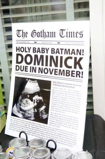 batman baby shower Sign