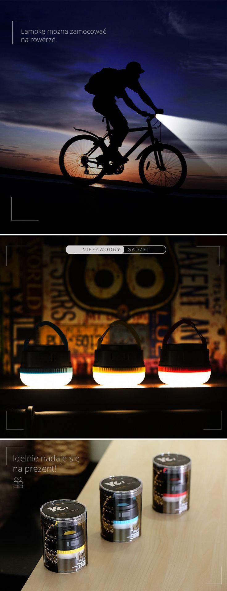 Lampka LED przenośny bank energii 3000mAh Remax niebieska