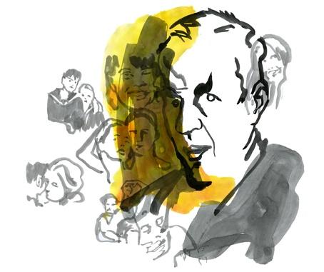 Interview with Jörn Donner for Scanorama. Wonderful illustration by Hanna Wieslander.