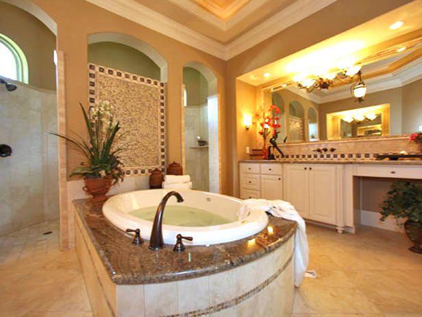 Romantic luxury bathtub bathroom pinterest romantic for Romantic master bathroom