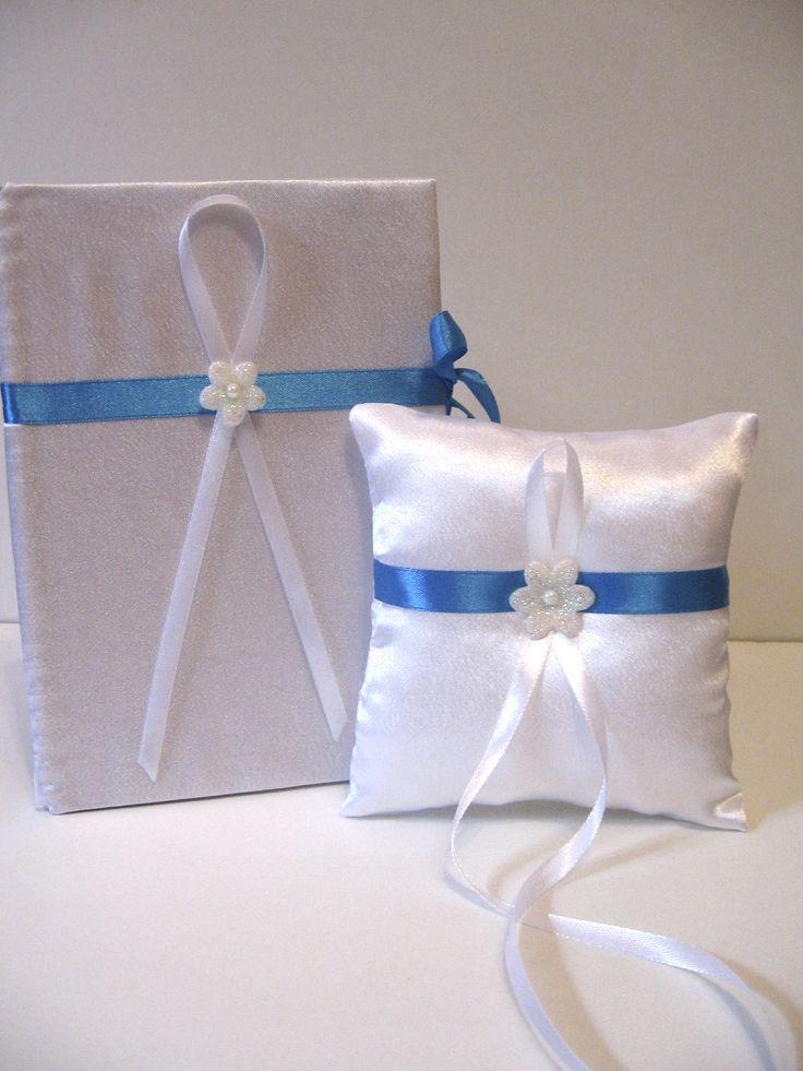 Набор подушечка для колец и книга пожеланий