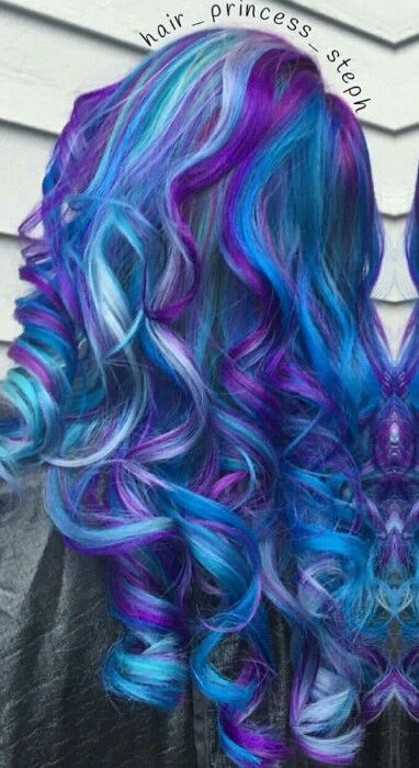 Blue purple dyed hair                                                                                                                                                      More