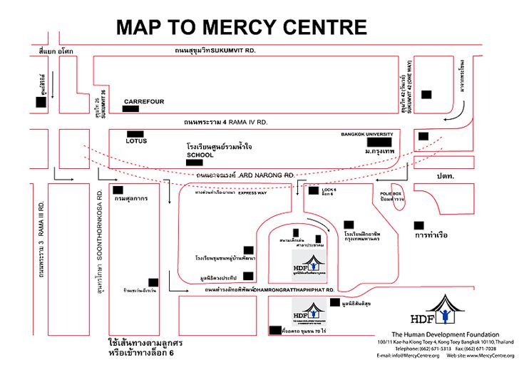 Map to mercy center