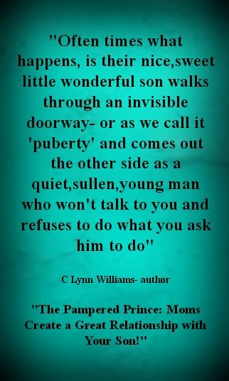 1/30/14- C Lynn Williams discusses the differences in raising boys and shares her insights into Mom's achieving an awesome relationship with their sons. This author shares her tips and thoughts in this subject- http://www.latalkradio.com/Players/Lon.shtml date=December+30,+2013&file=123013