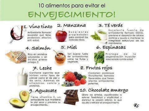 Alimentos anti vejez