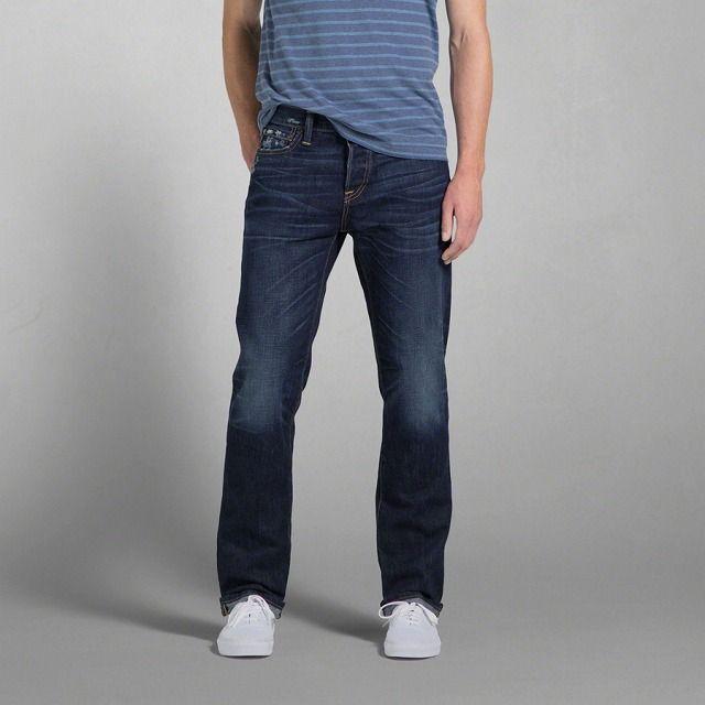 アバクロンビー&フィッチ メンズ スリムストレート ジーンズ ダーク ウォッシュ/A&F Slim Straight Jeans Dark Wash